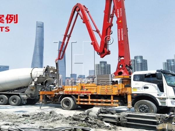 China jiuhe small 25m 27m 28m 29m 30m 33m concrete boom pump truck
