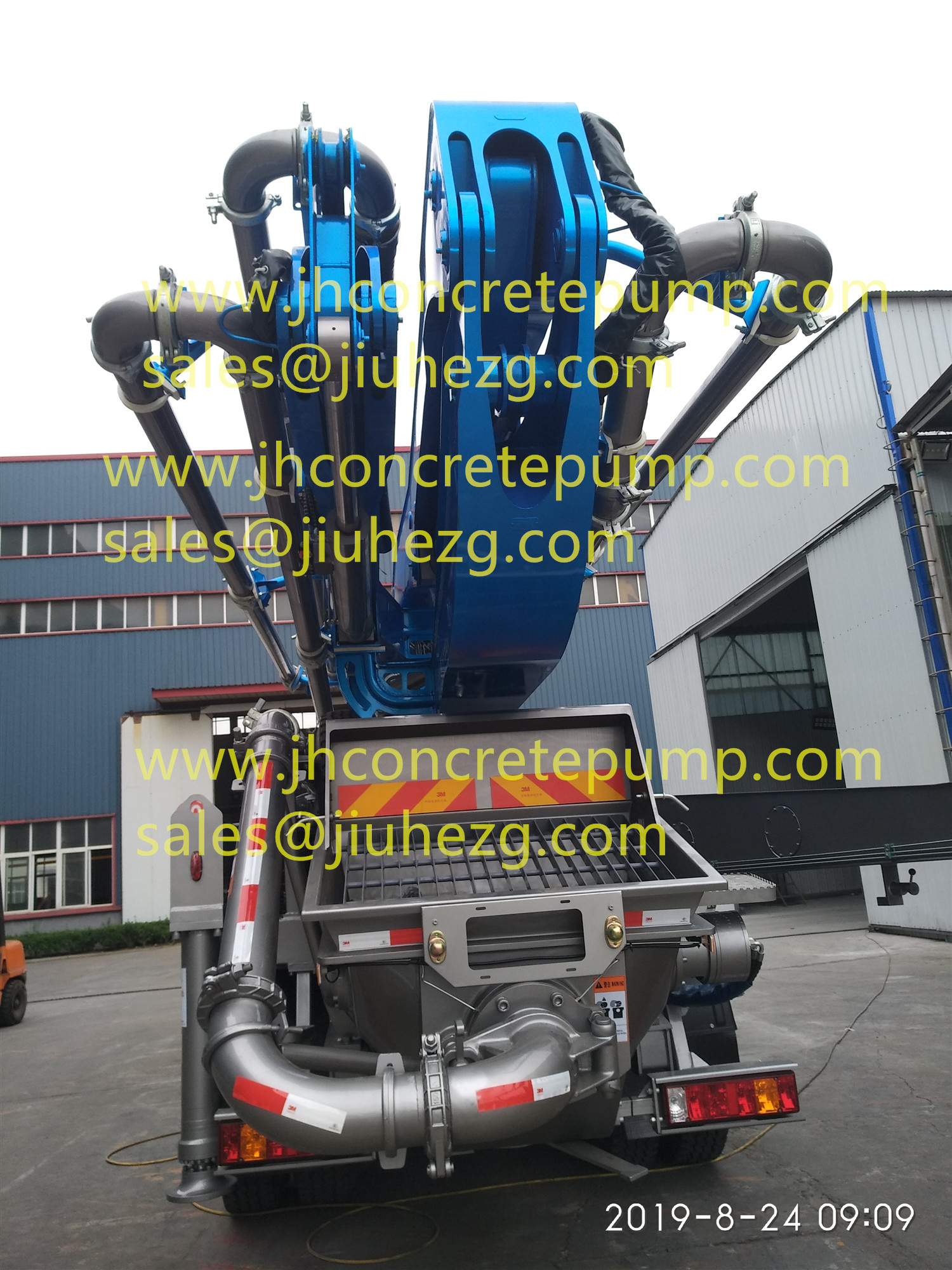 38m mobile concrete pumps with HOWO Chassis