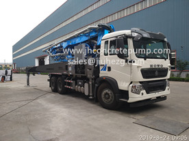 38m JHZ5340THB concrete boom pump truck with HOWO 400HP chassis