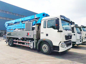 30m 32m 33m mobile concrete boom pump truck with SINOTRUK HOWO Chassis